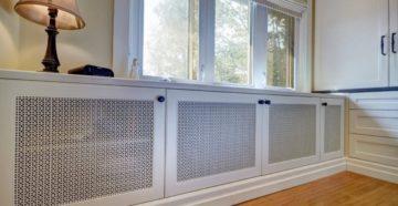 Эффективный экран для радиатора отопления: дизайн, физика, конструкция. Как сделать экран для батареи